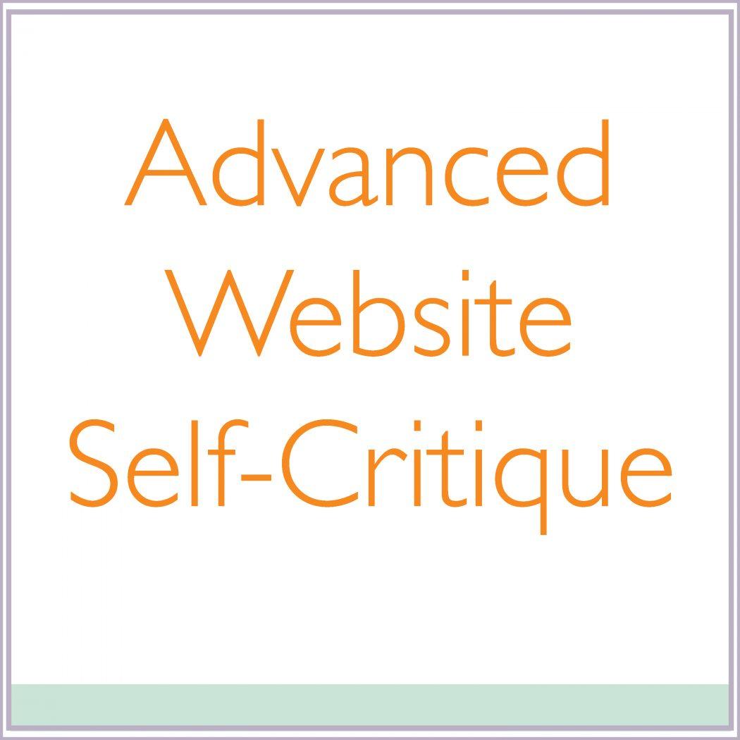 self critque