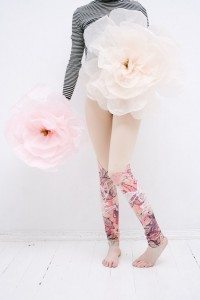 Delicate Pink Leggings by ZIB Textile.
