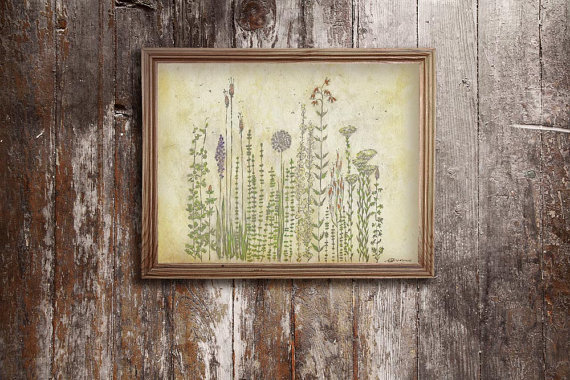 Prairie Wildflowers by Michelle Tavares. Watercolor illustration.
