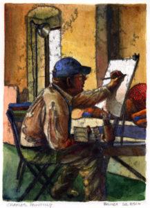 Charles, Painting by Belinda DelPesco