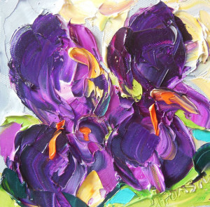 Deep Purple Iris by Jan Ironside