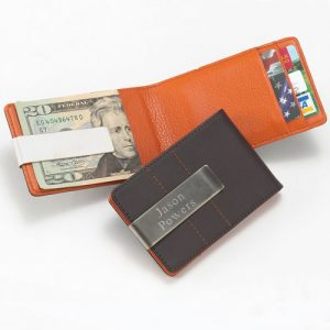 Leather Money Clip by Tipo's Creations.