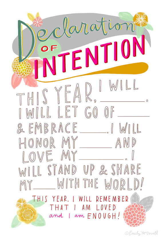 Declaration of Intention by Emily McDowell. Illustration.