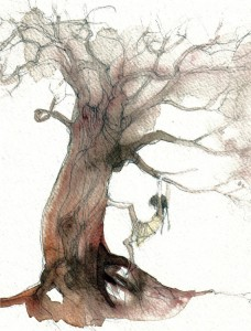 Girl Climbing Tree by Alida Bothma.