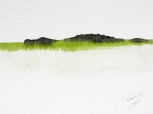 The Hidden Crocodile by Prem Krishnan. Watercolor.