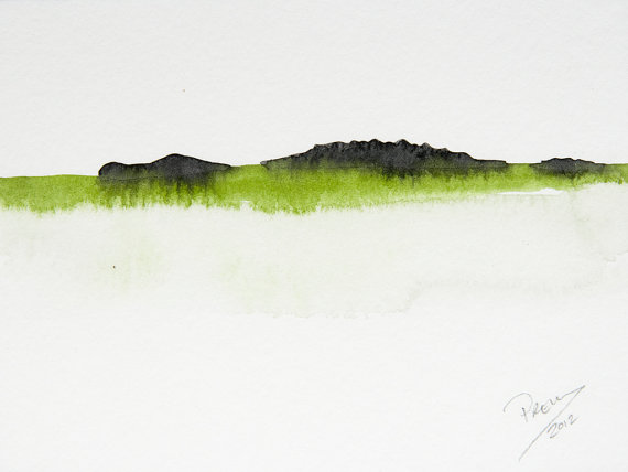 The Hidden Crocodile by Prem Krishnan. Watercolor.