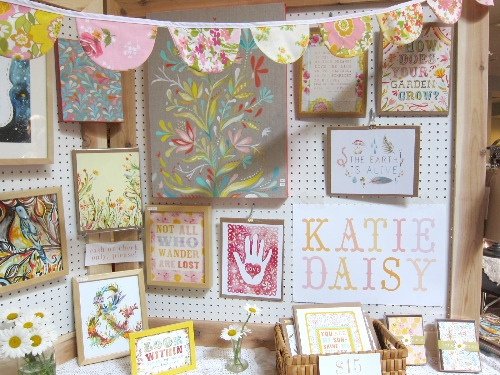 Katie Daisy's booth at The Big Craft