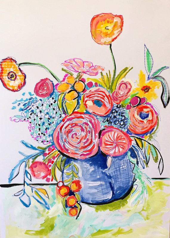 Pastel Flowers by Rosalina Bojadschijew