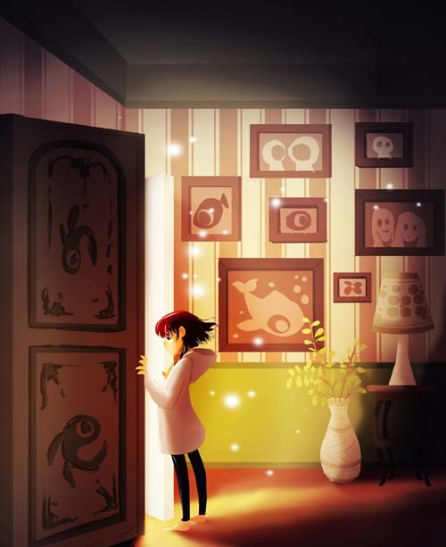 Door by Eunjung June Kim. Digital Illustration.