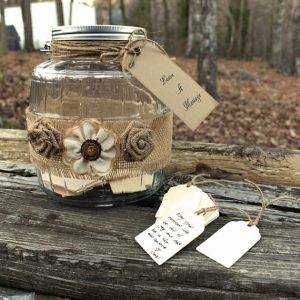 Rustic Guestbook Jar from Occasion House.