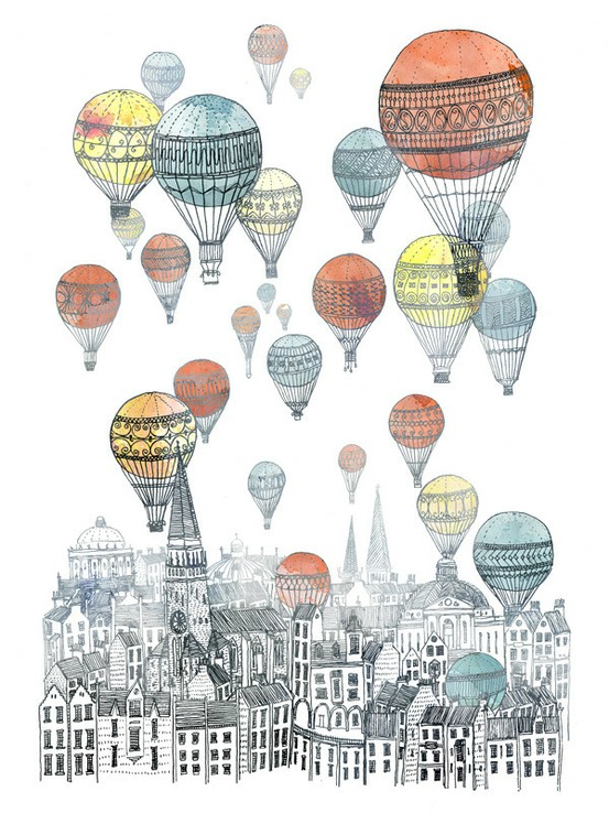 Voyages Over Edinburgh by Fleck. Via Margaret Louise. Giclee Print.