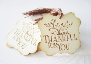 So Thankful for You tags from Adore By Nat.
