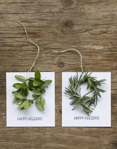 Holiday Basics. Mini Wreath Holiday Cards from Frolic!.