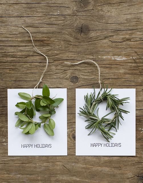 Holiday Basics. Mini Wreath Holiday Cards from Frolic!.