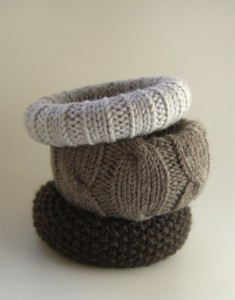 DIY Knitted Bracelets from Ravelry via Jess Coello.