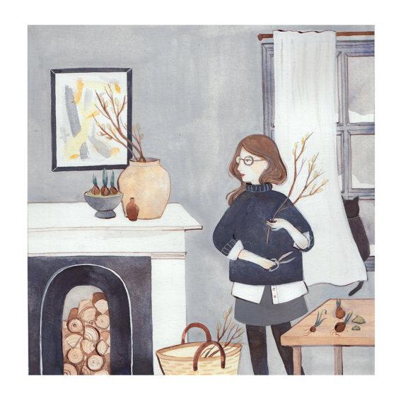 Winter Mantel by Kelsey Garrity Riley