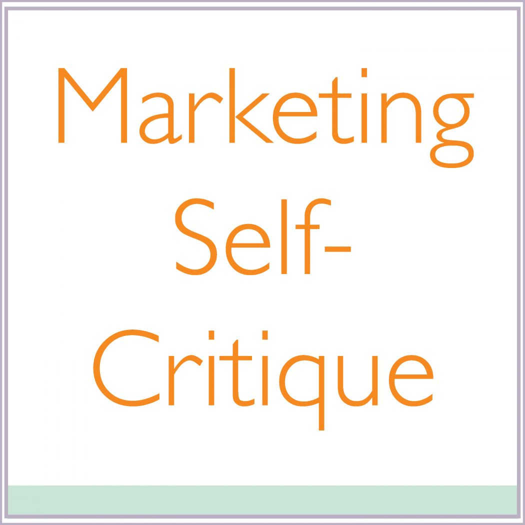 Marketing Self-Critique
