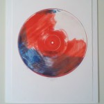 Star-Spangled by Laura C George. Relief monoprint.