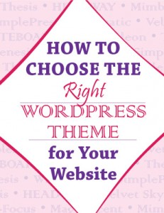 How to Choose the Right WordPress Theme by Sweet Dreamz Design.