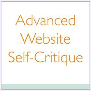 Advanced Website Self-Critique
