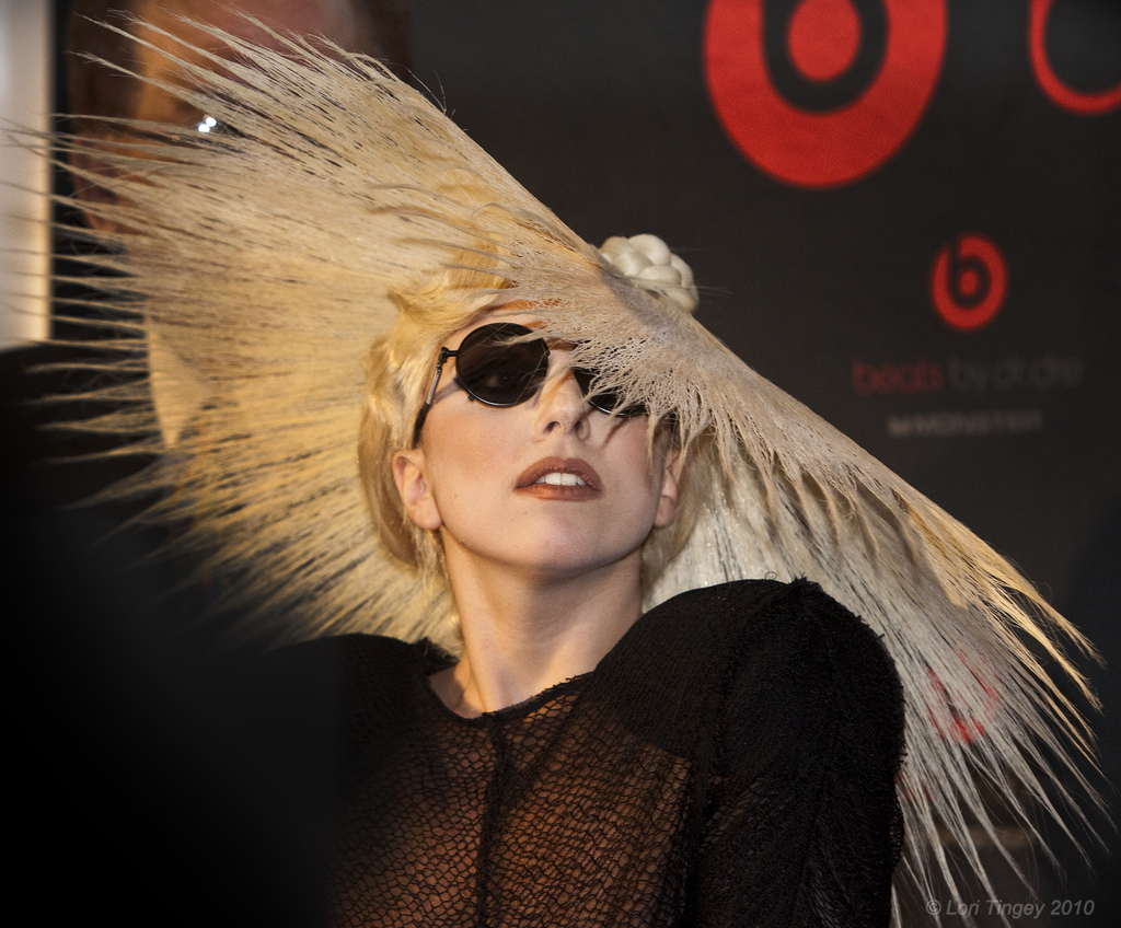 Lady Gaga at CES 2010 by Lori Tingey