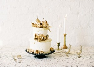 Gilded Cake by Jen Huang Photography.