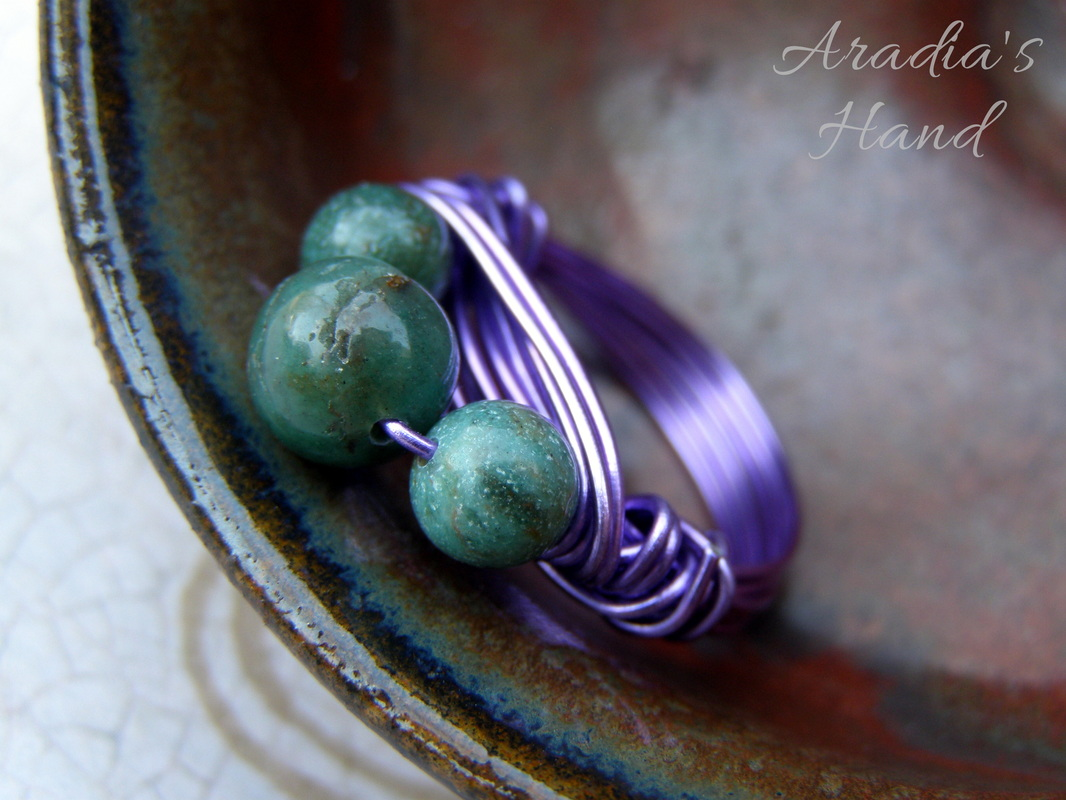 Bacchante Wire Wrap Ring by Aradia's Hand