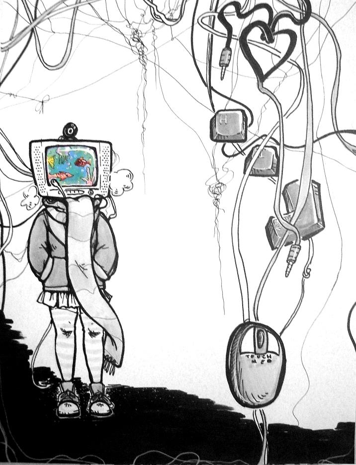 Computer Head by Amanda LaFrenais