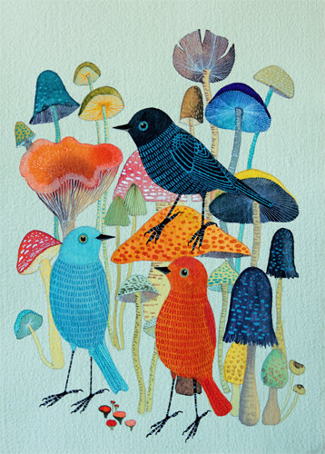 Mushrooms by Geninne D. Zlatkis