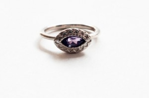 Cat's Eye Amethyst Ring by Lauren St. Julian.