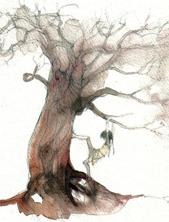 Girl Climbing Tree by Alida Bothma.