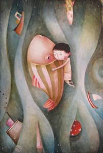 Boy and Fish by Ildi of NanuGraphic