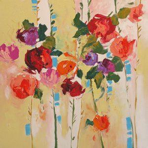 Cottage Garden by Linda Monfort