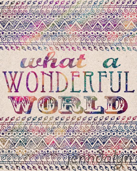 Wonderful World by Jennifer Lee.