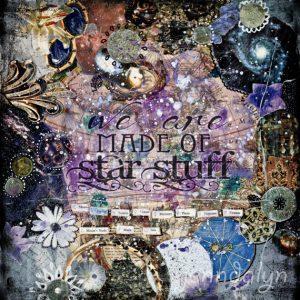 Star Stuff III by Jennifer Lee. Mixed media.