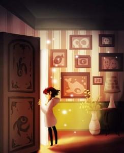 Door by Eunjung June Kim. Digital Illustration.