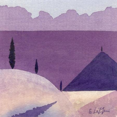 Hilltop View 1 by Giuliana Lazzerini