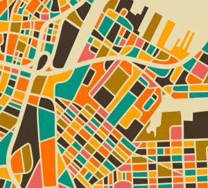 Boston Map by Jazzberry Blue.