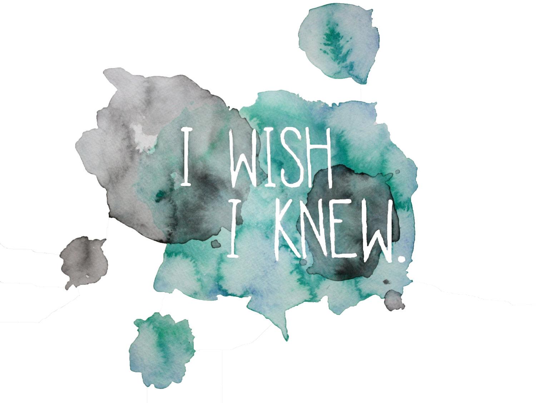 I Wish I Knew by Amanda Brown. Watercolor print.