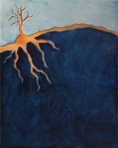 Copper Tree Blue Landscape by Chris Zielski of Copper Leaf Studios