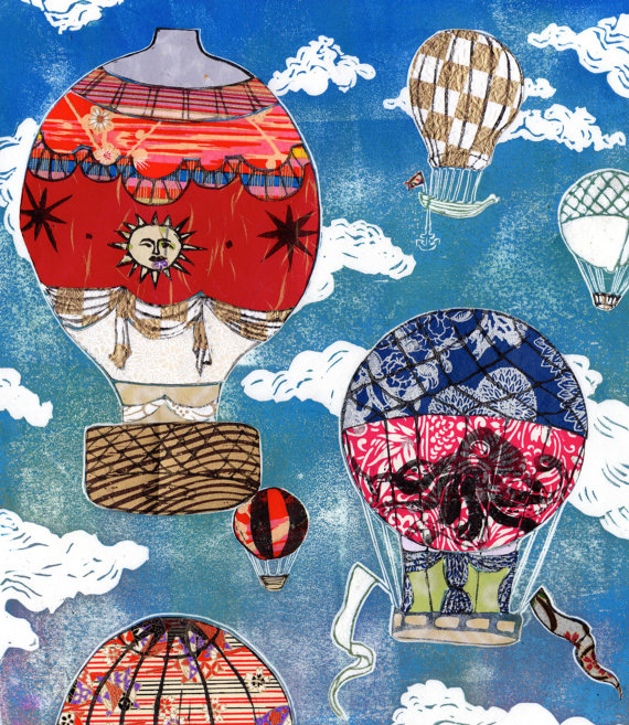 Hot Air Balloons VII by Ele Willoughby