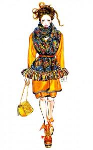 Mulberry fashion illustration by Sunny Gu.