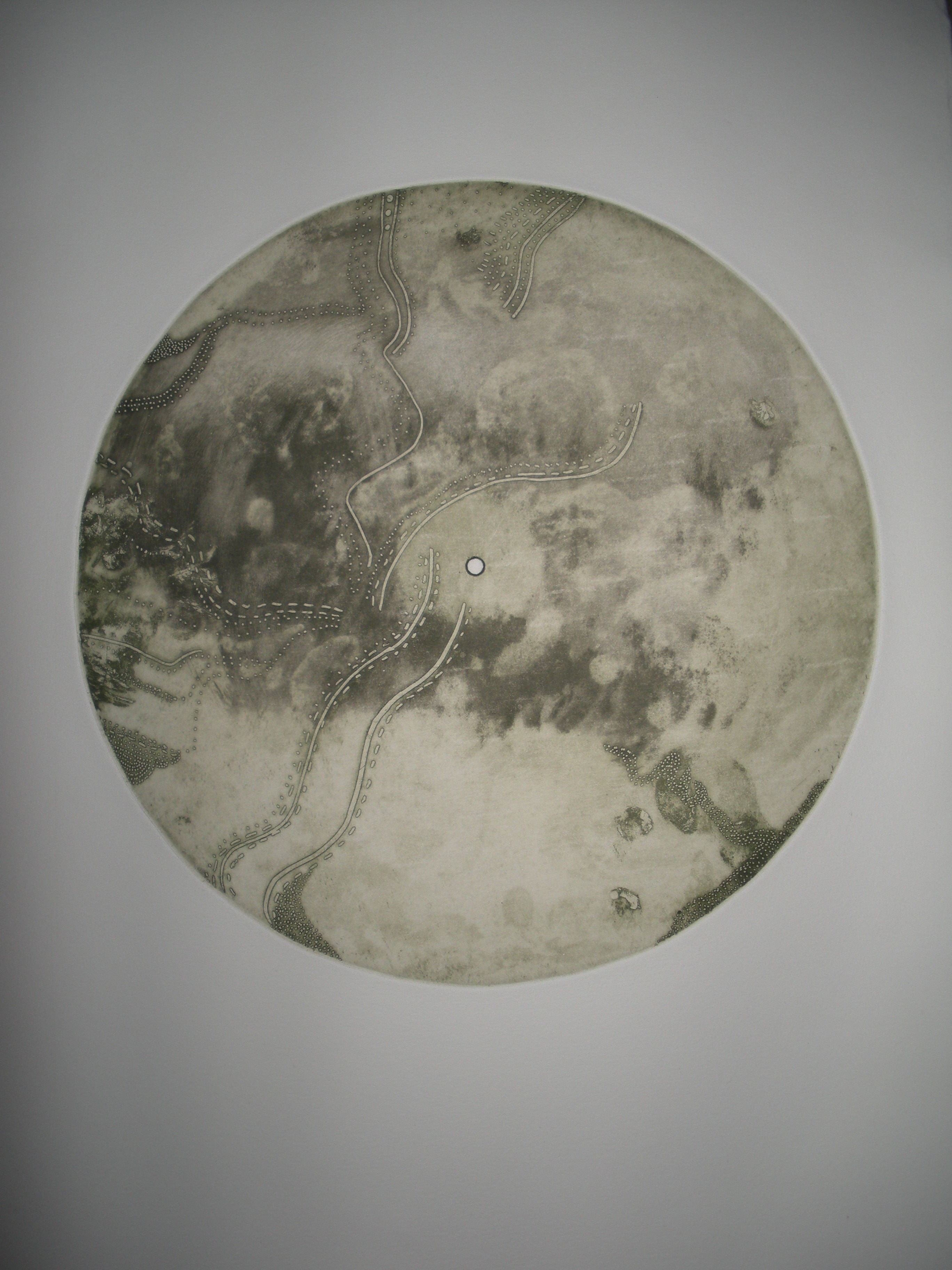 Through the Forest by Laura C George. Intaglio etching print.