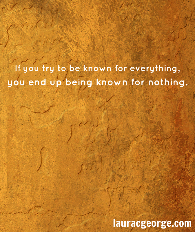You End Up Being Known For Nothing by Laura C George. Background by Kenneth Lu.