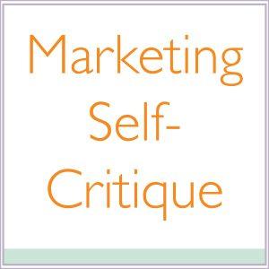 Marketing Self-Critique