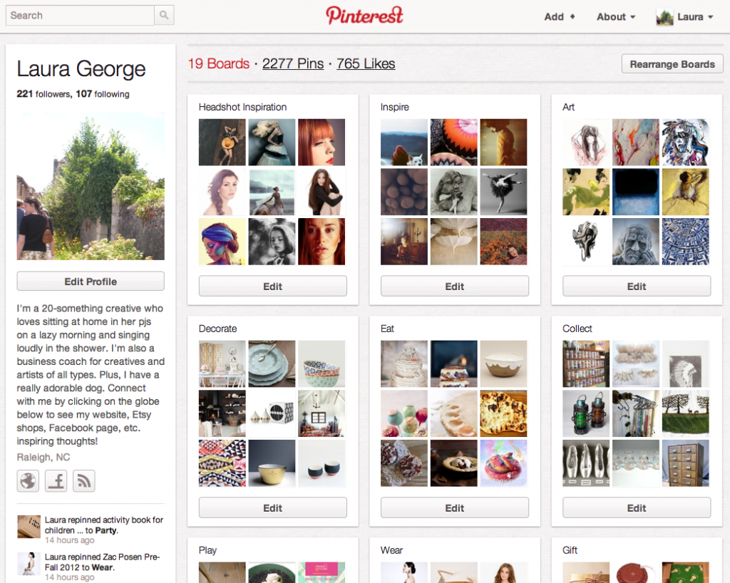 Laura's Pinterest Boards