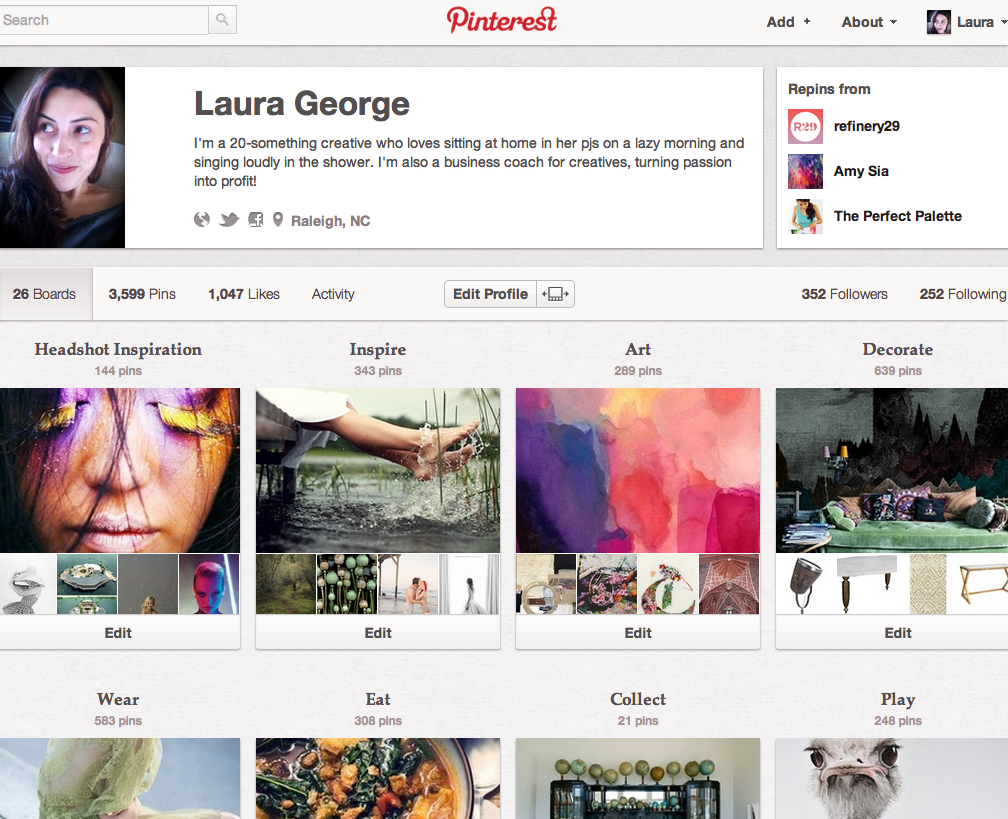 Laura's Pinterest Boards