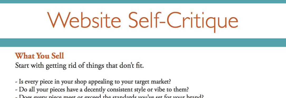 Website Self-Critique for Artists